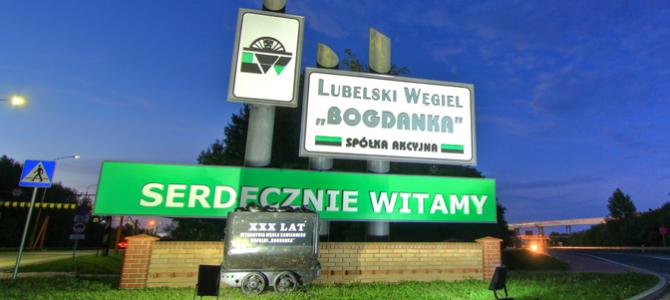 Piłkarze Górnika odwiedzili Bogdankę